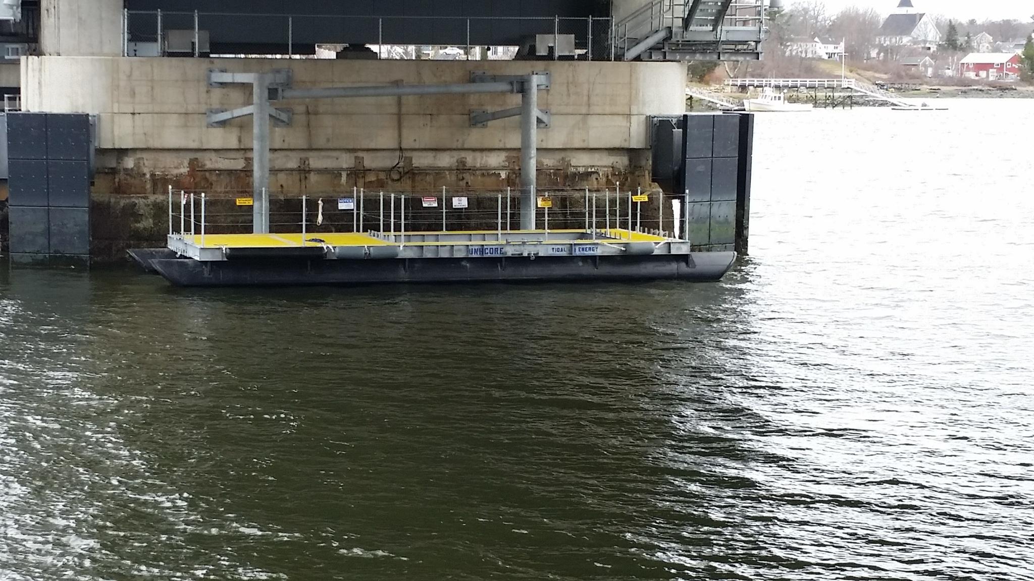 Turbine Platform located along Memorial Bridge Pier #2