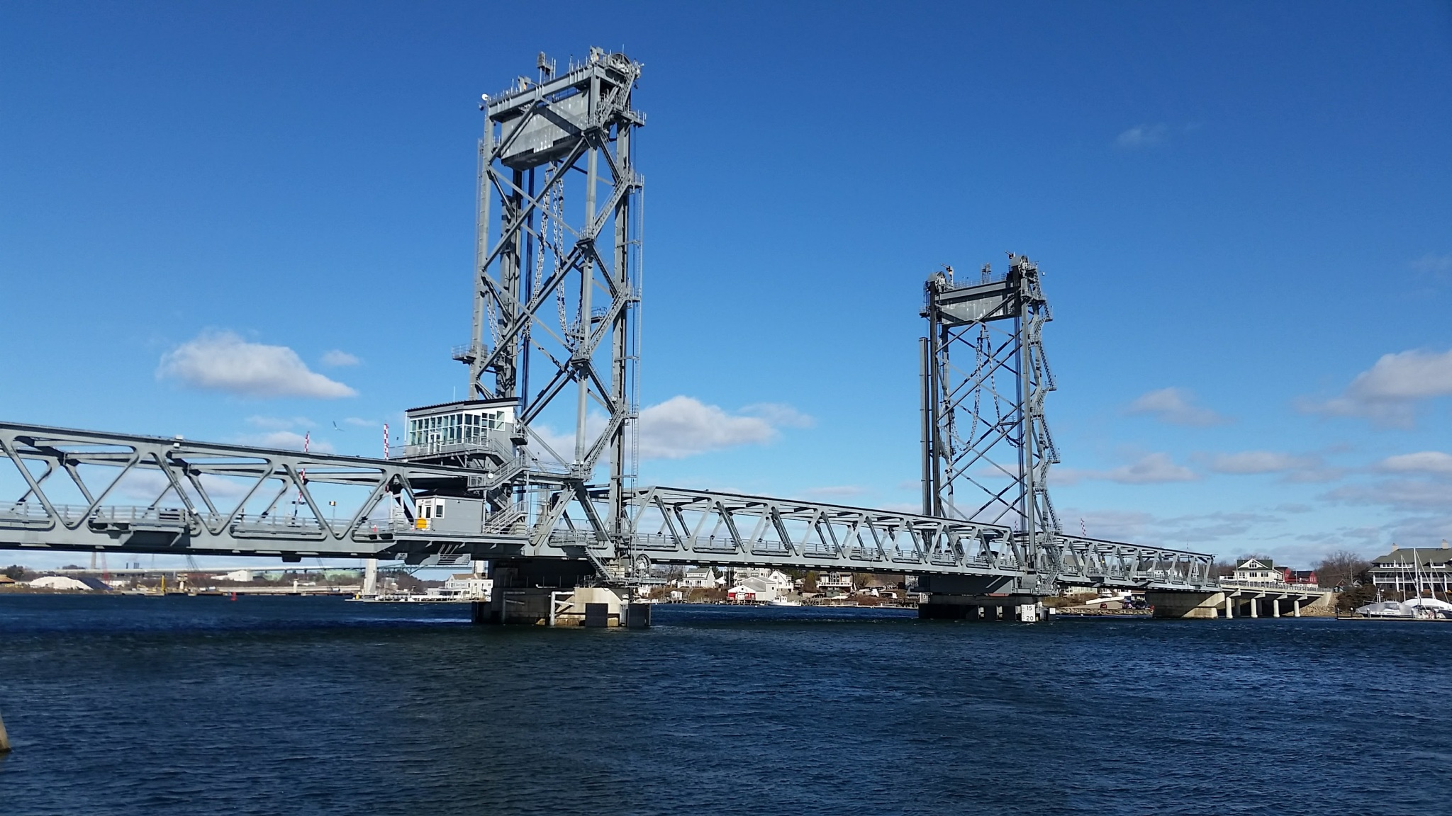 View of the Memorial Bridge from the Portsmouth Side