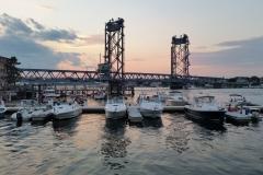 Sunset at the bridge from Prescott Park
