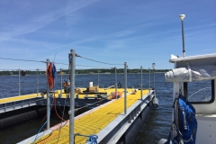 Turbine Deployment Platform with UNH boat docked