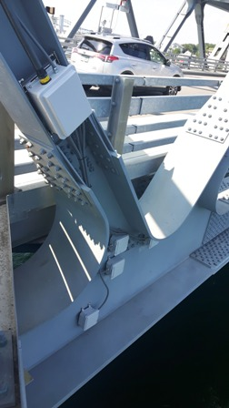 The Structural Sensors Installed on the Memorial Bridge